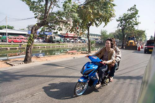 Mofas auf den Strassen von Chiang Mai sind keine Seltenheit