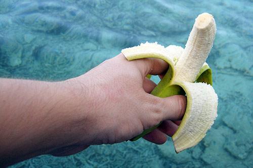 Thai-Bananen sind kleiner als die, die man in Europa kennt. Das schreibe ich jetzt ohne Hintergedanken.