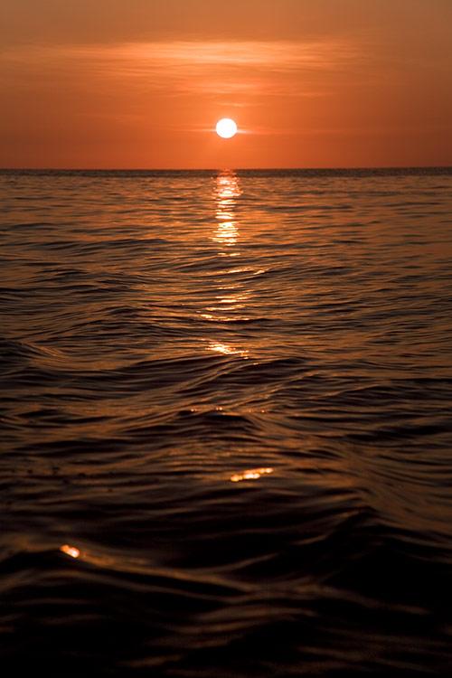 Sonnenuntergang vor Phi Phi Leh